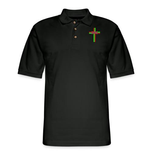Portugy Cross Three - Men's Pique Polo Shirt