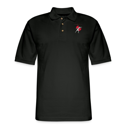 IBRC Pocket Logo with Buckle Up Brutus on Back - Men's Pique Polo Shirt