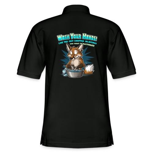 Wash Your Hands (blue) - Men's Pique Polo Shirt