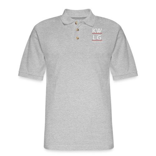logo2allwhite png - Men's Pique Polo Shirt