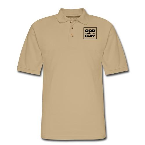 God made me gay - Men's Pique Polo Shirt