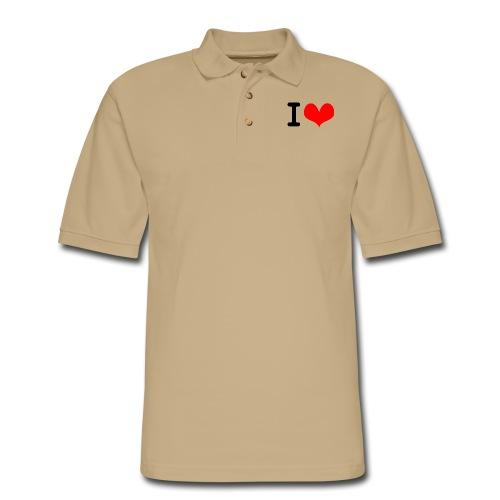 I Love what - Men's Pique Polo Shirt