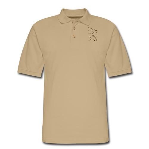 animal track tracks slot scent trail outdoor deer - Men's Pique Polo Shirt