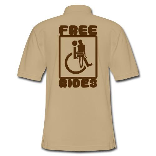 Free rides, wheelchair humor - Men's Pique Polo Shirt