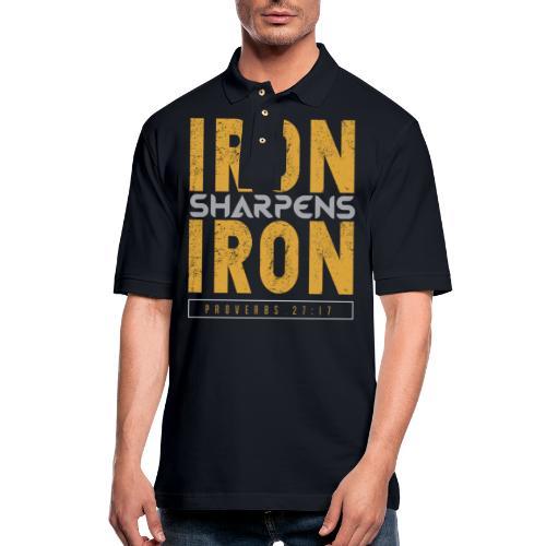 Iron Sharpens Iron - Men's Pique Polo Shirt