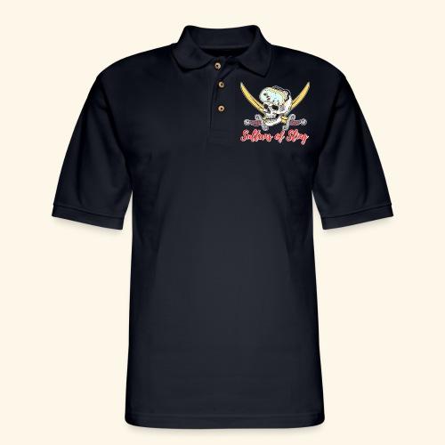 Sultans Skully Logo - Men's Pique Polo Shirt