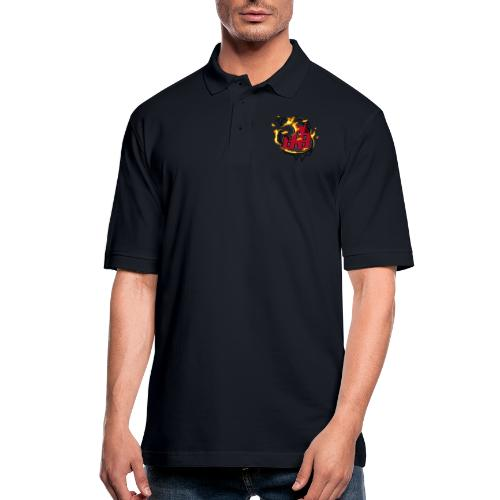 BAB Logo on FIRE! - Men's Pique Polo Shirt