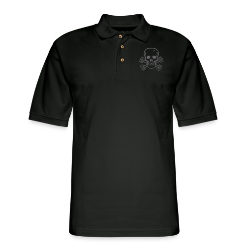 spreadshirtskullcrossbones - Men's Pique Polo Shirt