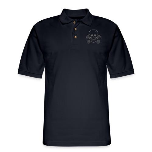 spreadshirtskullcrossbones - Men's Pique Polo Shirt