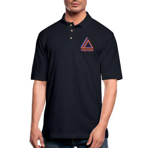 PodCavern Logo - Men's Pique Polo Shirt