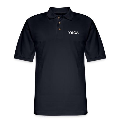 YOGA white - Men's Pique Polo Shirt