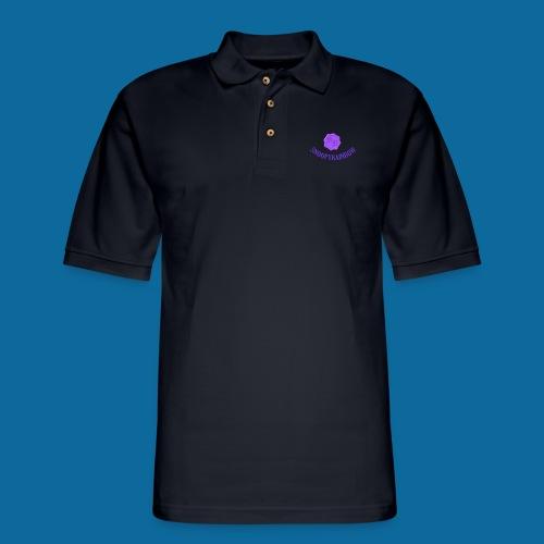 SR logo curved - Men's Pique Polo Shirt