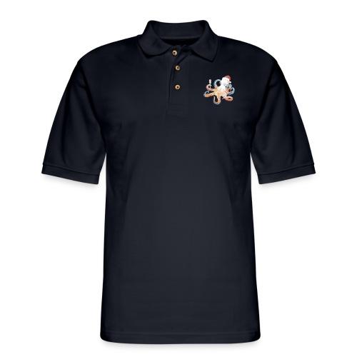 Christmas cephalopod - Men's Pique Polo Shirt