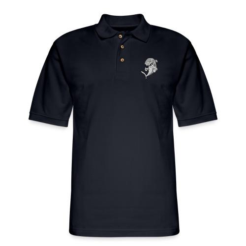 Shark With Attitude Cartoon - Men's Pique Polo Shirt
