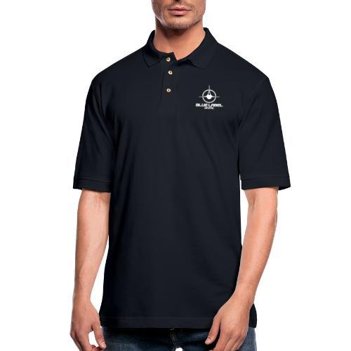 BLD logo with text white - Men's Pique Polo Shirt