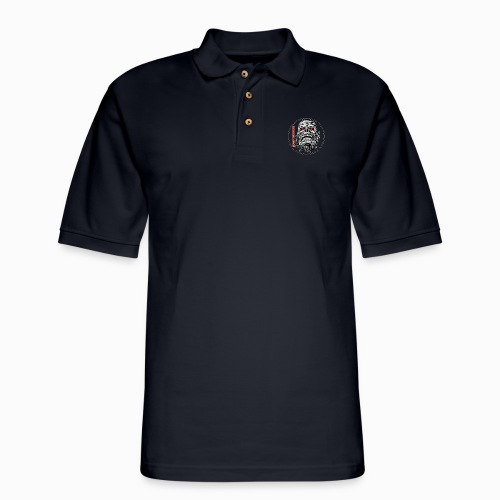 saskhoodz skull - Men's Pique Polo Shirt