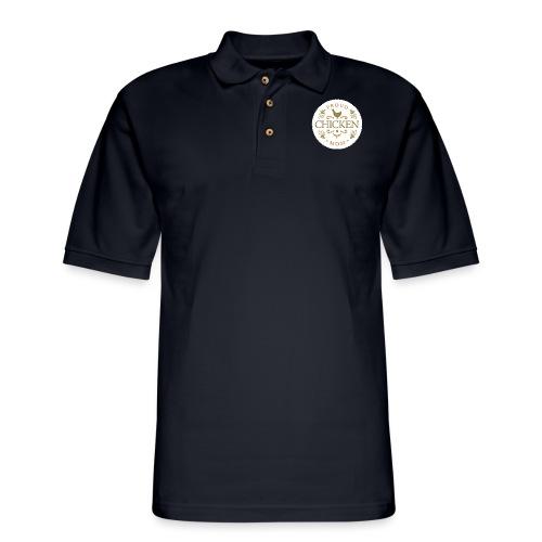 proud chicken mom - Men's Pique Polo Shirt