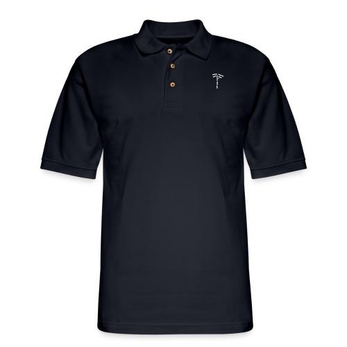 Classic Logo (White) - Men's Pique Polo Shirt