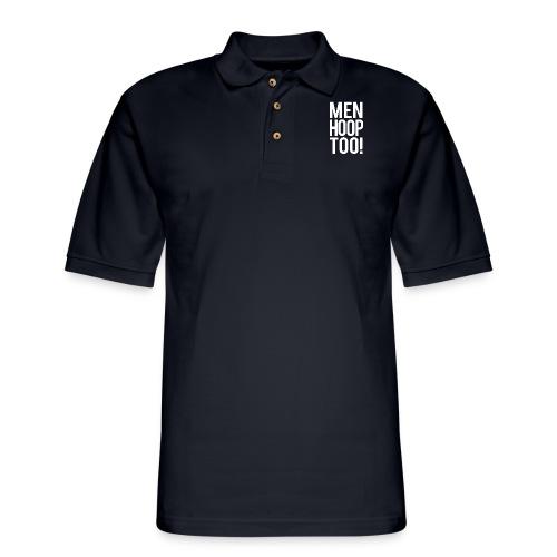 White - Men Hoop Too! - Men's Pique Polo Shirt