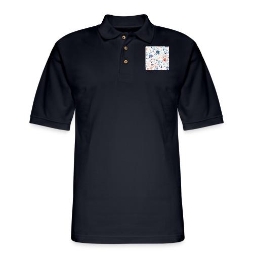 flowers - Men's Pique Polo Shirt
