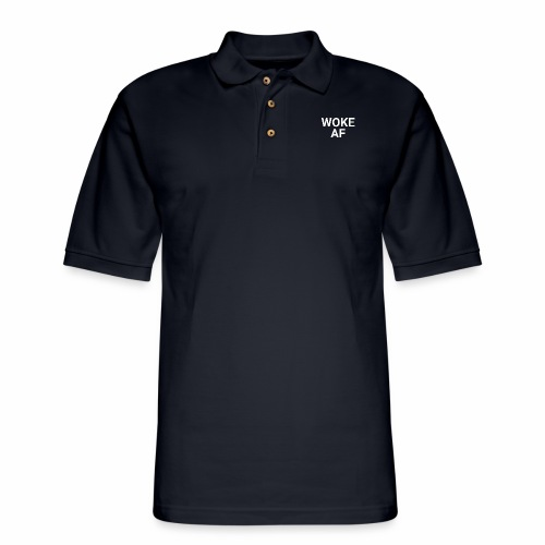 WOKE AF Men's Tee - Men's Pique Polo Shirt