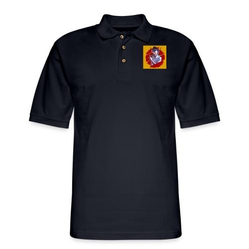 smoke - Men's Pique Polo Shirt