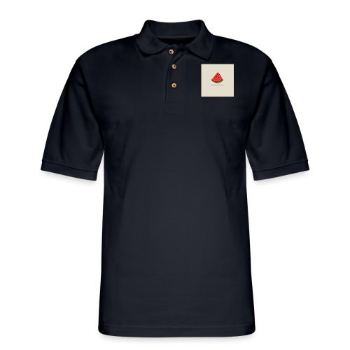Coastal Watermelon - Men's Pique Polo Shirt