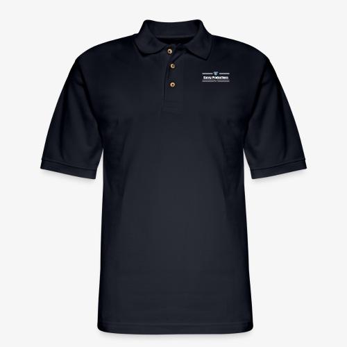 White Casey Productions Design - Men's Pique Polo Shirt
