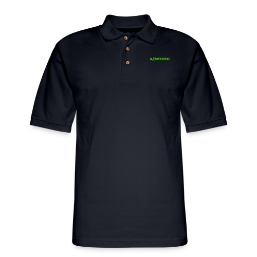 Green #Bowenworks - Men's Pique Polo Shirt