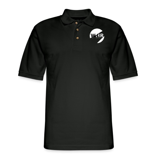 White Horse Records Logo - Black - Men's Pique Polo Shirt