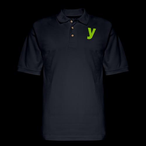 logo solid green - Men's Pique Polo Shirt