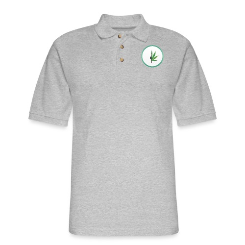 iCannGreen Logo - Men's Pique Polo Shirt