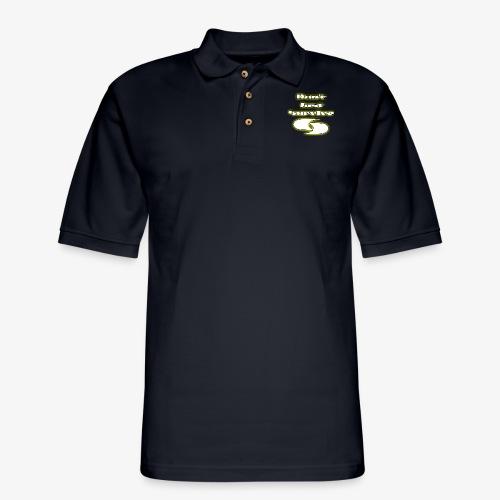 Slogan W/ Logo - Men's Pique Polo Shirt