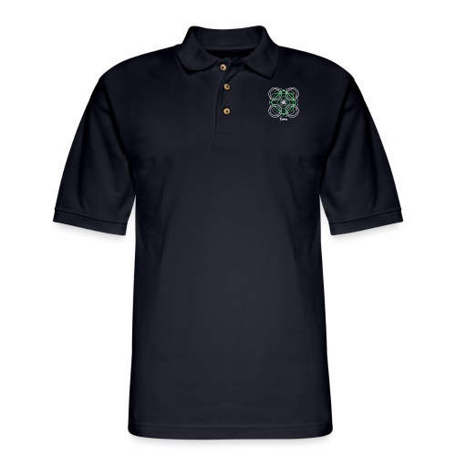 Terra Earth Element Alchemy Design - Men's Pique Polo Shirt