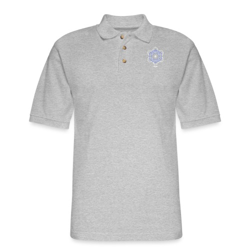 Aqua Water Element Alchemy Design - Men's Pique Polo Shirt