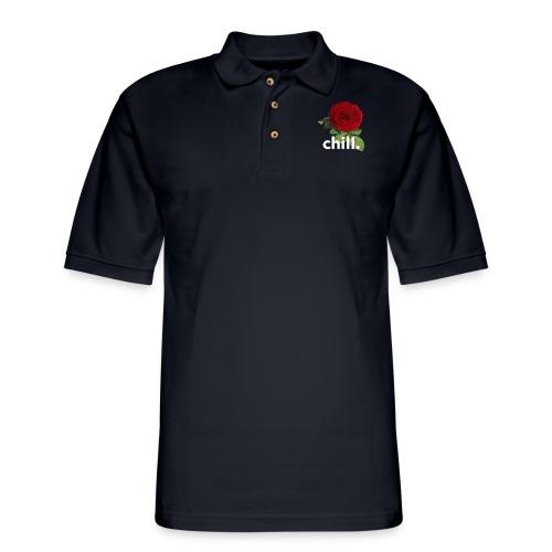 chill rose. - Men's Pique Polo Shirt