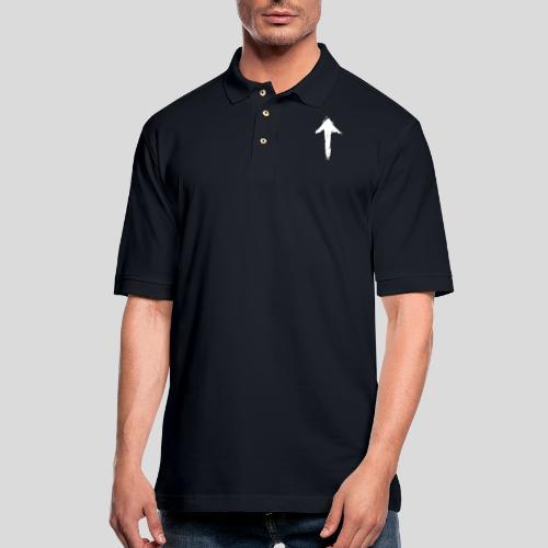 1Up sign - Men's Pique Polo Shirt