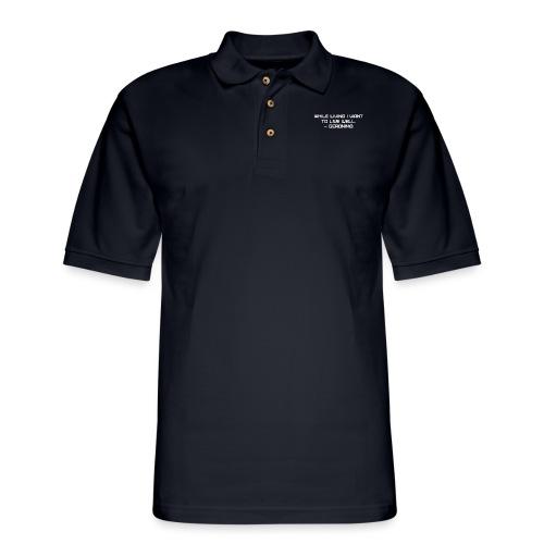 Geronimo Quote - Men's Pique Polo Shirt