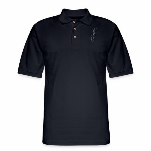 Tenor Saxophone · white - Men's Pique Polo Shirt