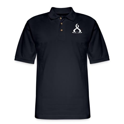Fire Cryptocurreny Icon White - Men's Pique Polo Shirt
