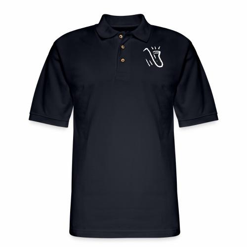 Saxophone white - Men's Pique Polo Shirt