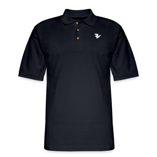 Basic White Colourway - Men's Pique Polo Shirt