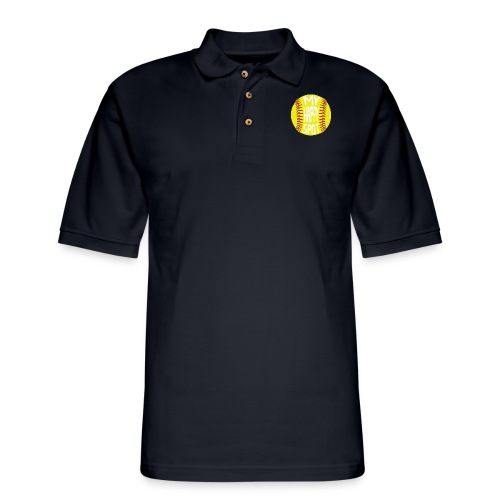 People s Republic of Burlington Softball - Men's Pique Polo Shirt
