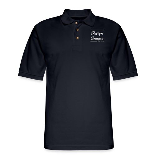 DESIGN COUTURE WHITE - Men's Pique Polo Shirt