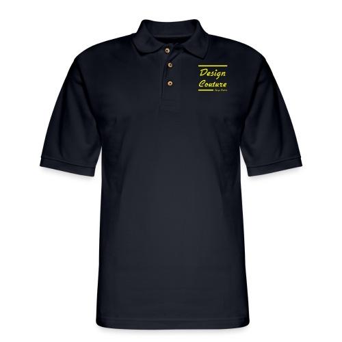 DESIGN COUTURE YELLOW - Men's Pique Polo Shirt