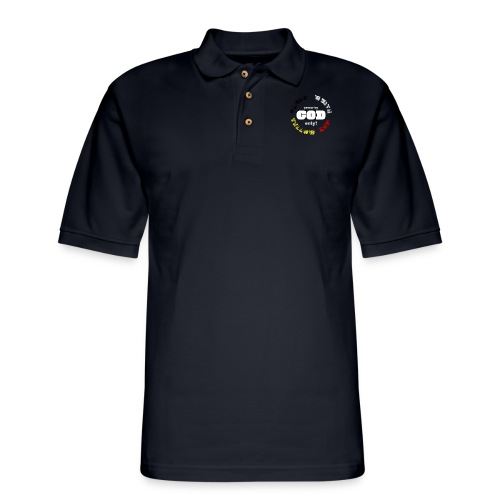 Power by GOD (Black, White, Yellow, Red) - Men's Pique Polo Shirt