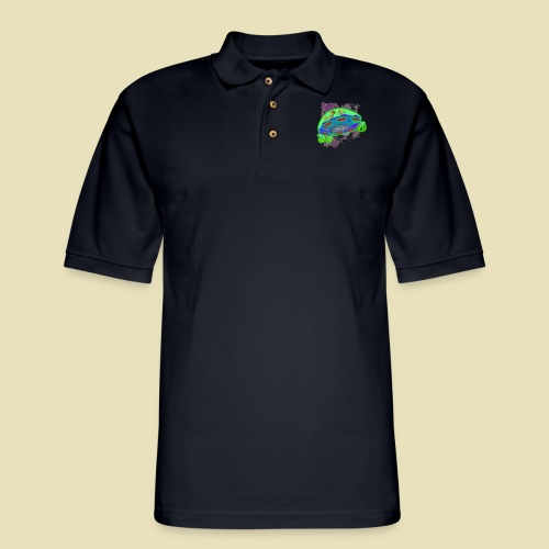 Ongher's UFO Flying Saucer - Men's Pique Polo Shirt