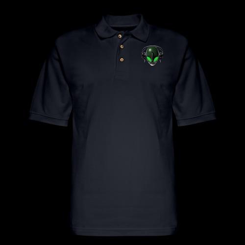 Reptoid Green Alien Face DJ Music Lover - Friendly - Men's Pique Polo Shirt