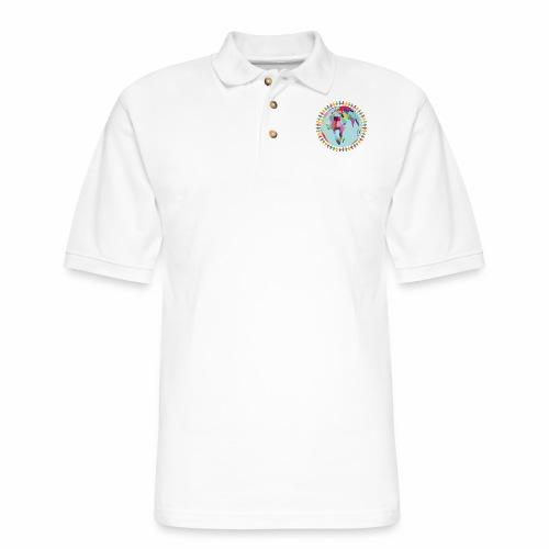 Community Group/Earth Globe/Earth Day/ Human Frame - Men's Pique Polo Shirt
