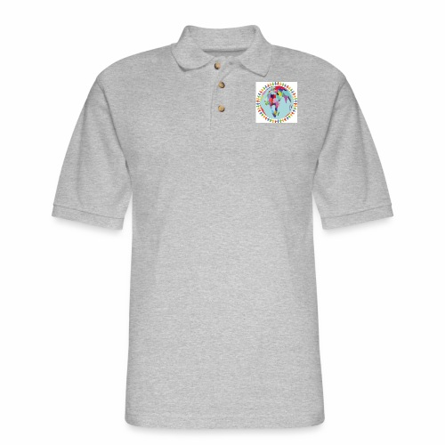Community Group/Earth Globe/Earth Day/ Human Frame - Men's Pique Polo Shirt